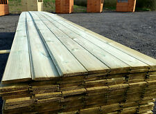£1.29 Per Metre TANALISED A* Grade Pine Tongue & Groove Cladding Floor Board