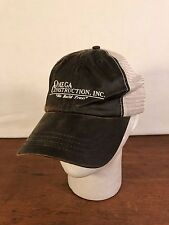 Men's Omega Construction, Inc. Mesh Cotton/Poly Brown Baseball Cap Hat (CH3)
