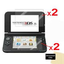 4x Clear Screen Protector Guards with Cloth for NINTENDO 3DS XL & NEW 3DS XL