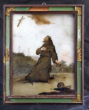 dipinto su vetro 1700 S.FRANCESCO D'ASSISI