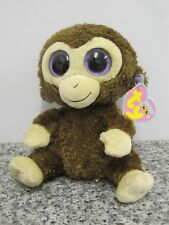 "TY COCONUT MONKEY BEANIE BABIES BOO 6""approx SOFT TOY TAGGED DOB 27 JULY"