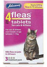 Johnson's 4 Fleas Cat Flea Tablets 3 Tablets