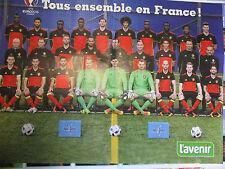 POSTER FOOTBALL : 2 PAGES : DIABLES ROUGES - TOUS ENSEMBLE EN FRANCE !