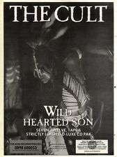 7/9/91 Pgn63 THE CULT : WILD HEARTED SON SINGLE ADVERT 15X11