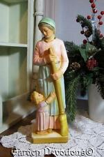 "11"" KITCHEN MADONNA STATUE Mary & Child Plaster / Chalkware **IMPORTED**"