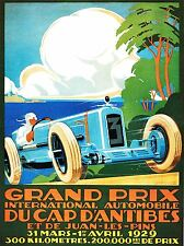 EXHIBITION MOTOR SPORT GRAND PRIX FRANCE AUTOMOBILE CAR VINTAGE POSTER 854PYLV