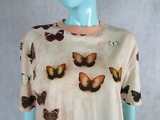 GIVENCHY BUTTERFLY GRAPHIC T-SHIRT SIZE S