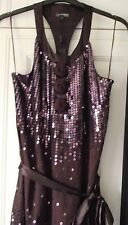 NEXT SIGNATURE - PETITE PLUM / WINE SEQUIN DRESS - SIZE 12 - NEW TAGS RRP £85
