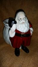 Vintage Santa Planter Ceramic Christmas Reading Book