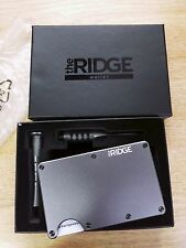 The Ridge Wallet Aluminum Gunmetal Money Clip Front Pocket Slim Metal RFID Block