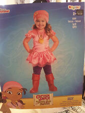 Girls-Size-2T-Captain-Jake-Neverland-Pirates-Izzy-Costume-Disney-Junior-Disguise