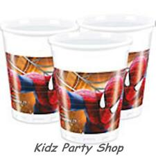 The amazing spiderman Party - 8 gobelets en plastique 180ml-Anniversaire-free post en uk
