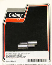 Harley 72-79 BT Ignition Cover Timer Stud Kit 8-32 Thread Colony 2538-2