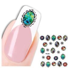 3D Nagel Sticker Medaillon Nail Art Blümchen New Design Aufkleber Water Decall