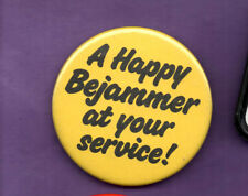 BeeJam - A Happy Bejammer At Your Service  - button badge 1980's