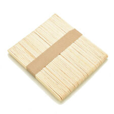 50X Large Wooden Popsicle Sticks Kids Hand Crafts Ice Lolly DIY Making Toys TB