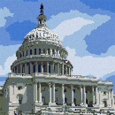 Capitol Needlepoint Canvas Painted Needle Point Canvases