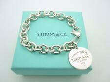 Please Return to Tiffany & Co. Sterling Silver Round Tag Bracelet 7.5""