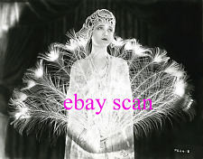 JETTA GOUDAL 8x10 Lab B&W Photo Elegant Fan Movie Still Grace Portrait