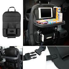 Genuine Leather Car Seat Back Bag Organizer Storage Cup iPad Phone Holder Pocket