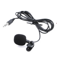 3.5mm Clip On Mini Microphone Lapel Tie Hands Free Lavalier Mic For Laptop PC BK