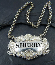 ANTIQUE GEORGIAN SILVER SHERRY DECANTER LABEL - Mary Ann & Charles Reily 1827