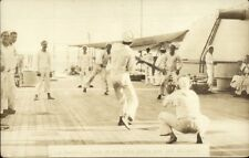 Baseball Game Where Babe Ruth Not Allowed On Board Navy Ship c1920 RPPC