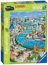 Ravensburger 19508 London The Thames Cartoon Scene 1000 Piece Jigsaw Puzzle New