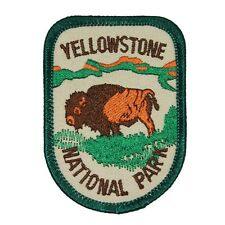 "Souvenir Patch ""Yellowstone National Park"" Wyoming Bison Badge Iron-On Applique"