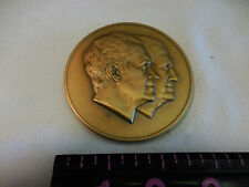 OLD US 1973 FRANKLIN MINT HUGE 7oz BRONZE MEDAL UNC PRESIDENT NIXON VICE AGNEW