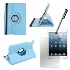 BLUE Rotating IPad Mini 1 iPad Mini 2 2G IPAD Mini 3 3G SMART Leather Case Cover