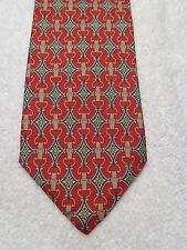PAOLO GUCCI MENS TIE AWESOME RED WITH GREEN 59 X 4