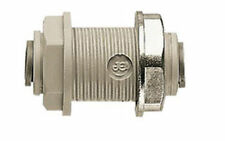 "John Guest PI1212S 3/8"" Push Fit Quick Connect Bulkhead Union Water Air Fitting"