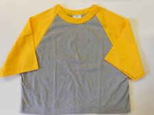 NOS Vintage '80's Ricks Half T-Shirt Small Sports Workout Gray & Gold USA! Wow!