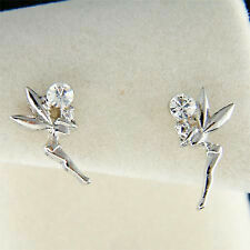 w Swarovski Crystal Girls Kid Small Tinkerbell fairy Stud Earrings NEW Xmas Cute