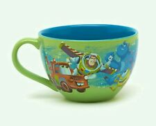 NEW DISNEY STORE PIXAR LARGE CAPPUCCINO MUG SOUP CUP TOY STORY MONSTERS INC BUZZ