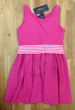 Ralph Lauren Little Girls' Fit-and-Flare Dress,Regatta Pink,Size 6X, MSRP $69.5
