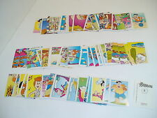 LOTTI DI 2 FIGURINE STICKERS EDIGAMMA THE FLINTSTONES PIERRAFEU 1994 MANCOLISTA