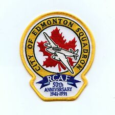 RCAF CAF Canadian 418 Squadron 50th Anniversary Colour Crest Patch