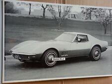"""12 By 18"""" Black & White PICTURE 1970 Corvette Stingray"""