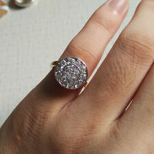 Chic Crystal Cubic Zirconia 18K Gold Plated Women Wedding Jewelry Ring Size 6
