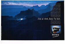 Publicité Advertising 1991 (2 pages) Camera camescope Sony Video Hi 8
