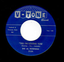 POPCORN-BIG AL DOWNING-V-TONE 215-YES I'M LOVING YOU/PLEASE COME HOME