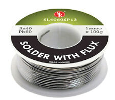 Spool of 100 Grams Flux Coated Soldering Wire 1mm Thick Diameter 40/60 Tin/Lead