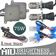 75W Slim HID Xenon Ballast Conversion 6500K Kit 880/1 H1 H3 H7 H8 H9 H11 9005/6