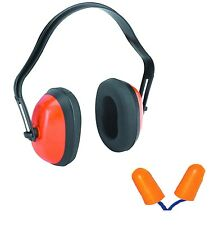 Earmuff with 3 pairs of ear plugs for better noise cancellation
