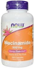 MAINTENANT, Niacinamide, Vitamine B3, 500mg x100 gélules NIACINE ALTERNATIVE