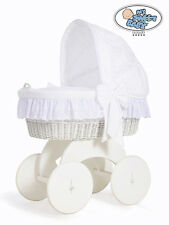 My Sweet Baby - Sophie White Wicker Crib Moses Basket - White