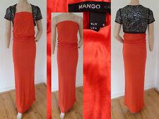 2er Set Mango Kleid Maxi Bandeau gerafft Stretch Rot S + C&A Bolero Schwarz Slb