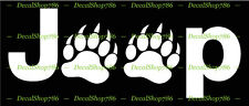Jeep + Bear Claws - JDM Cars /SUV's Vinyl Die-Cut Peel N' Stick Decal / Sticker